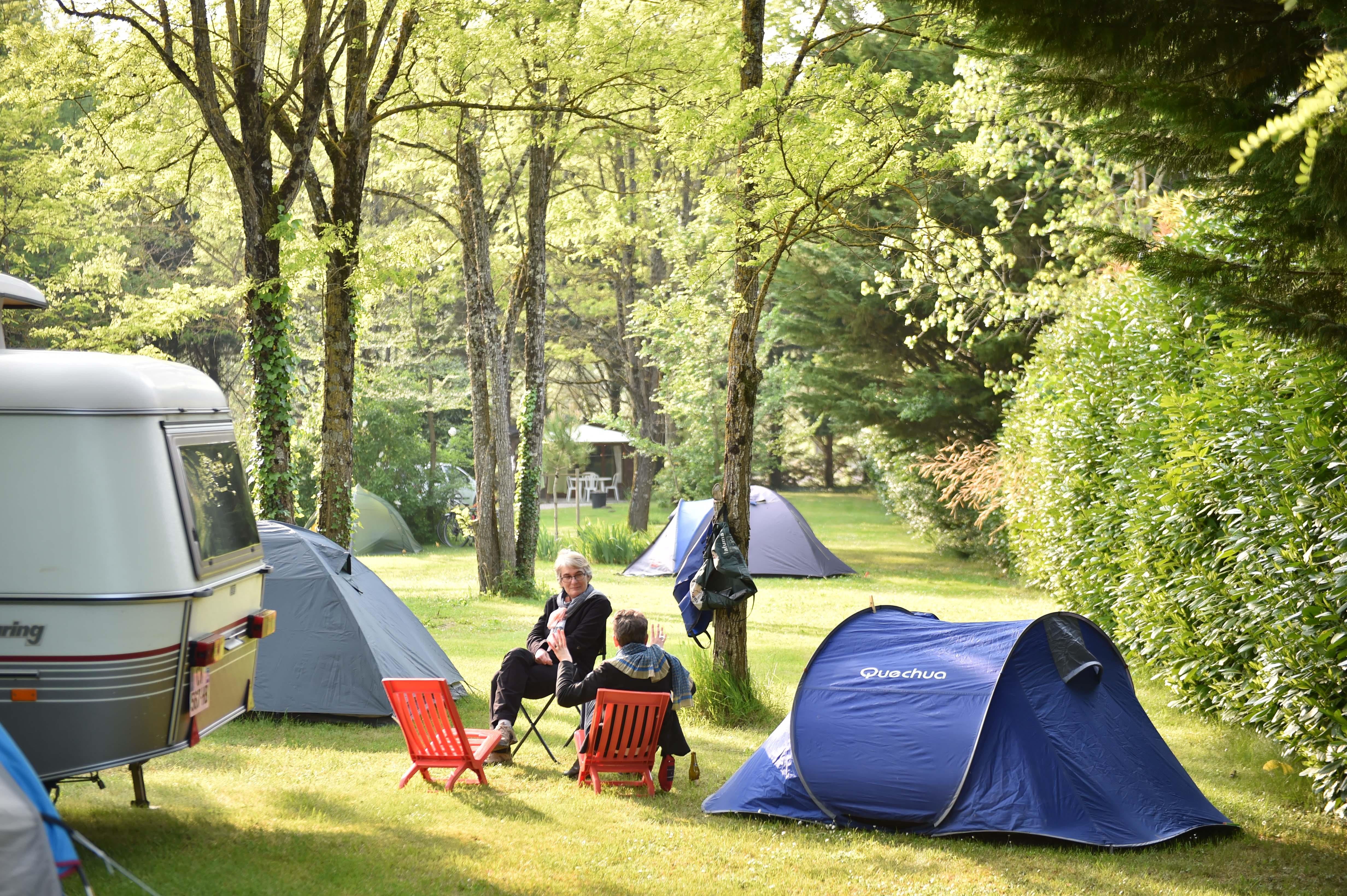 Emplacement - Emplacement Nature - Sans Élec / Tente, Caravane Ou Camping Car - 100 À 200M²(Sans Electricite) - Camping Le Petit Lion des Tourbières