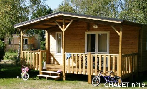 Location - Confort Chalet 18M² (1 Chambre) + Terrasse Couverte - Camping Du Lac de la Chausselière