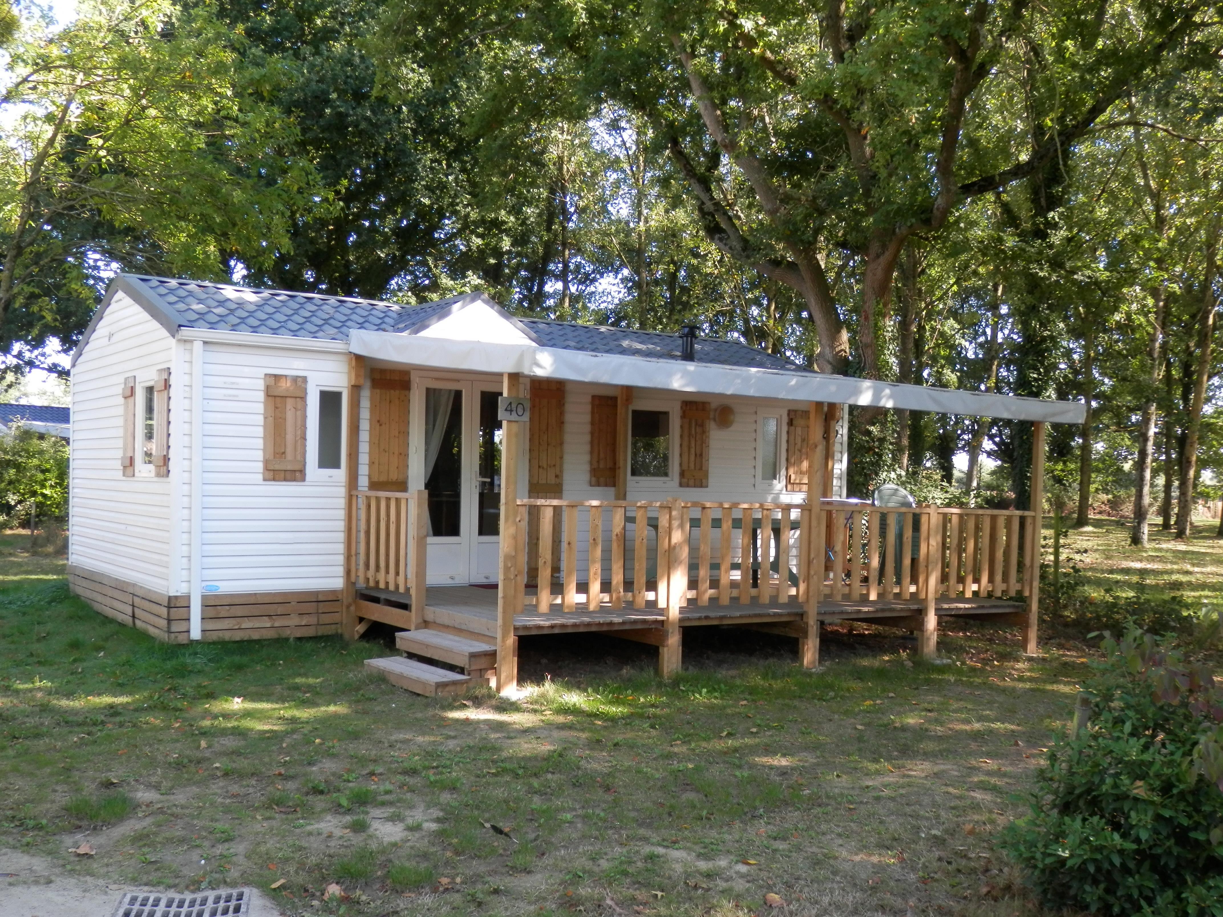 Location - Confort Mobil Home 32M² (3 Chambres) + Terrasse Couverte - Camping Du Lac de la Chausselière