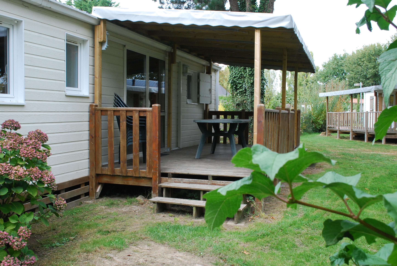 Location - Confort+ Chalet 40M² (2 Chambres) + Terrasse Couverte - Camping Du Lac de la Chausselière