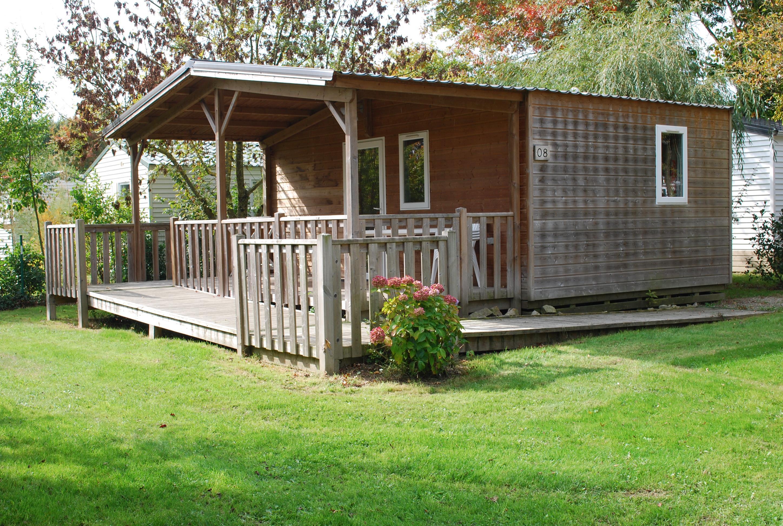 Location - Confort+ Chalet 24M² Pmr (1 Chambre) + Terrasse Couverte - Camping Du Lac de la Chausselière