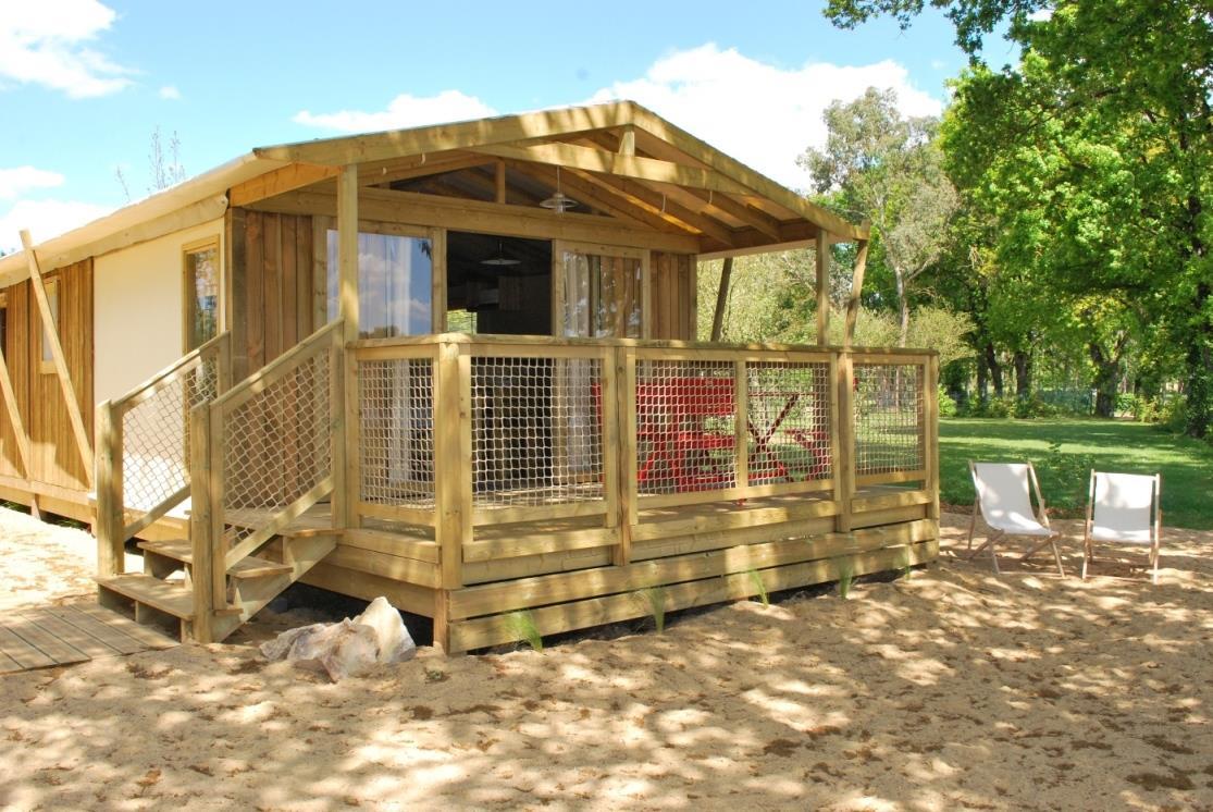 Location - Premium Lodge Sweetflower (2 Chambres) + Terrasse Semi-Couverte - Camping Du Lac de la Chausselière
