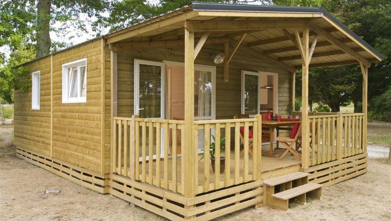 Location - Premium Chalet 42M² (2 Chambres) + Terrasse Couverte - Camping Du Lac de la Chausselière