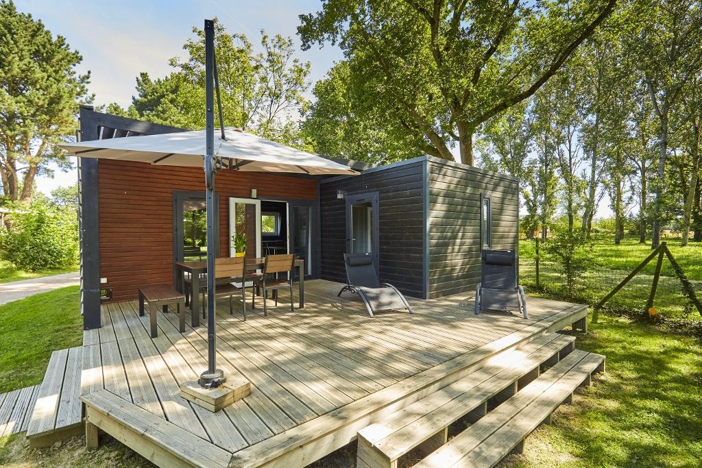 Location - Premium Chalet 46M² (3 Chambres) + Terrasse Couverte - Camping Du Lac de la Chausselière