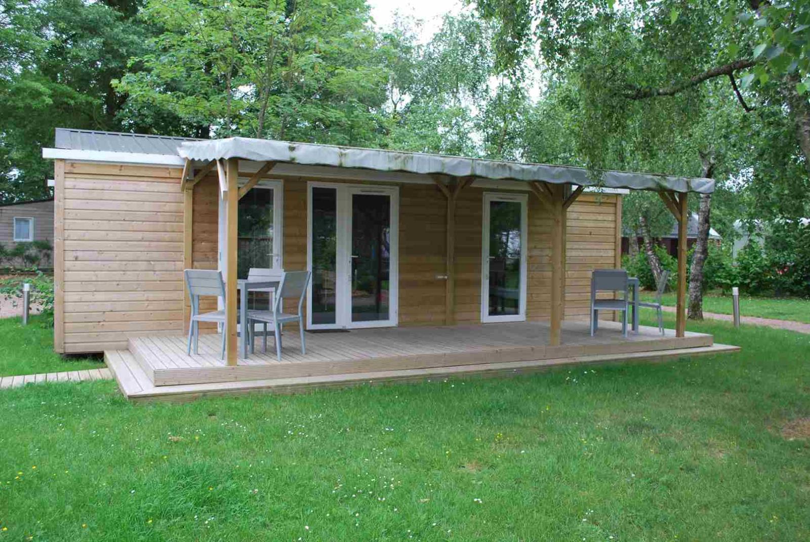 Location - Premium Mobil Home 36M² 2 Chambres, 2 Sdb + Terrasse - Camping Du Lac de la Chausselière
