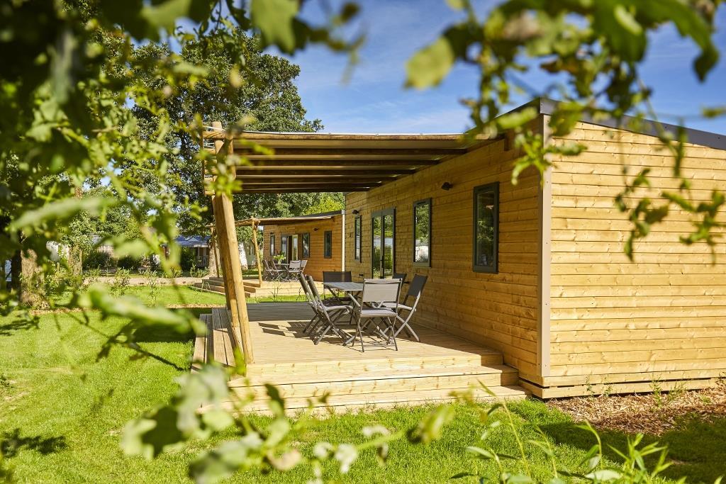 Location - Premium Mobil Home 32M² (3 Chambres) + Terrasse Couverte - Camping Du Lac de la Chausselière