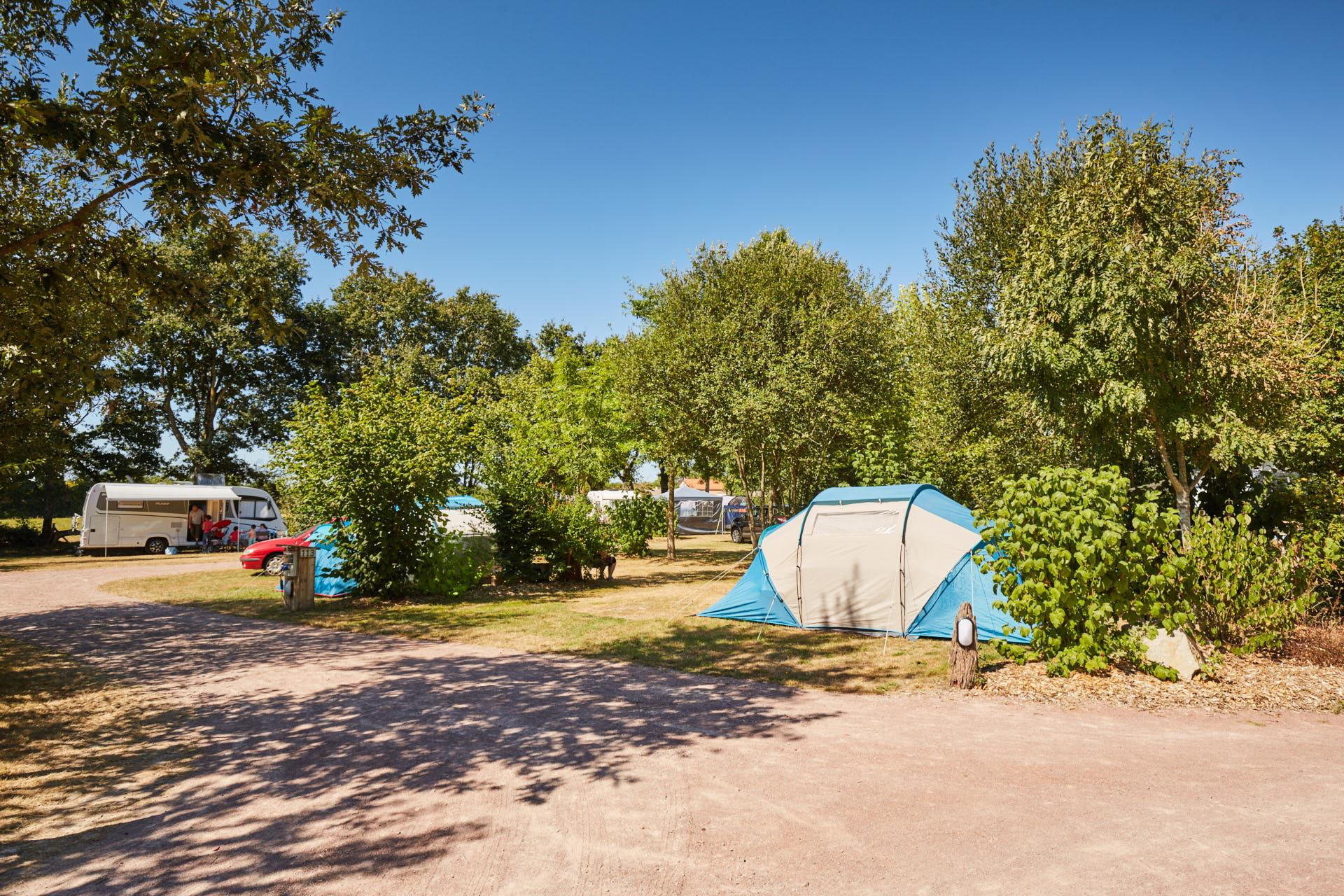 Emplacement - Forfait Confort (1 Tente, Caravane Ou Camping-Car / 1 Voiture / Électricité 16A) - Camping Du Lac de la Chausselière