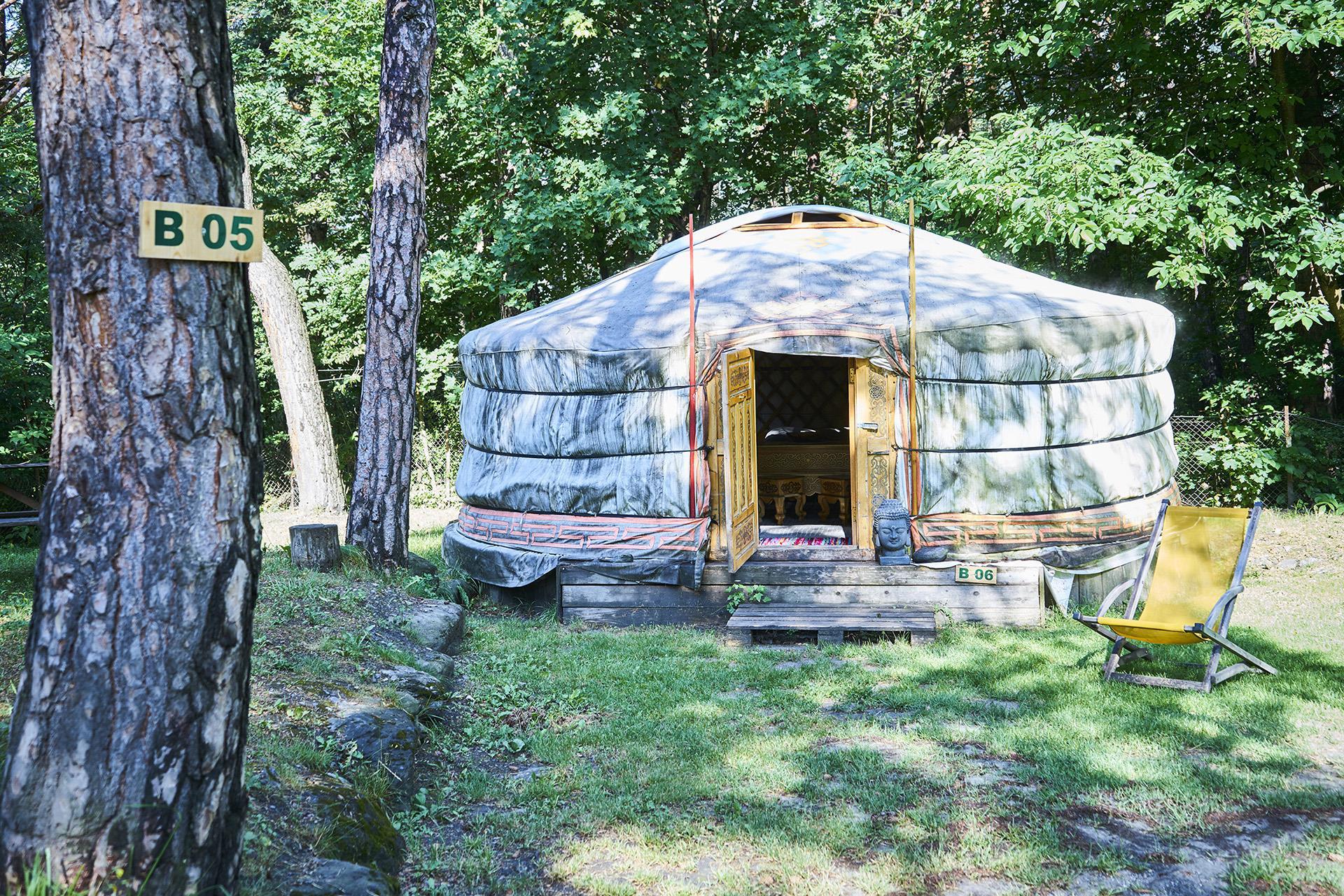 Location - Yourte Mongole Sans Sanitaires - Camping Le Reclus