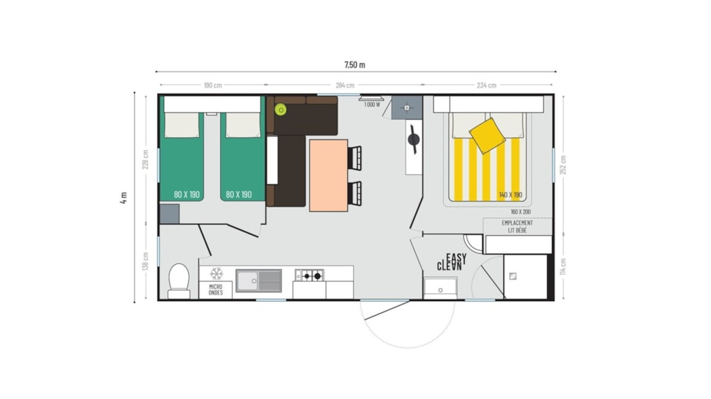 Mobil Home 2 Chambres