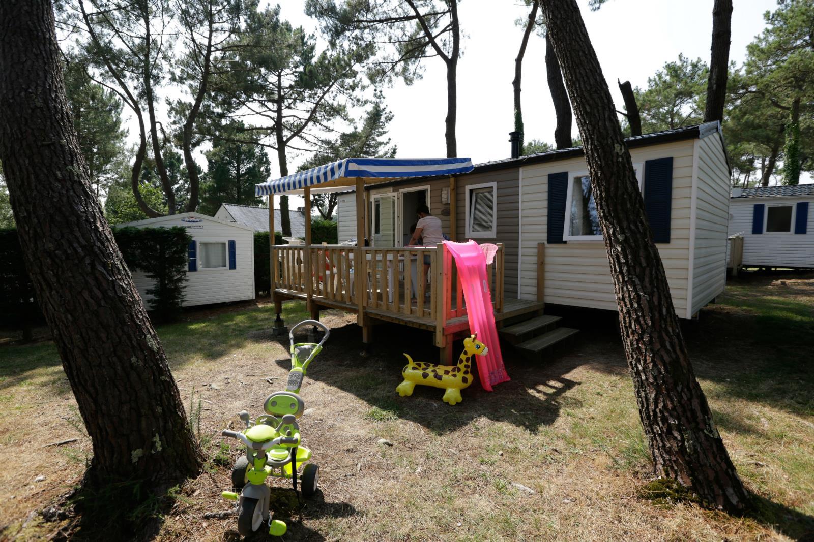 Location - Mobil Home Jacinthe Confort+ 32M² - 3 Chambres + Terrasse Couverte - Camping Le Fort Espagnol