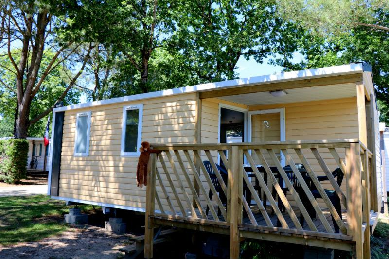 Location - Mobil Home Hibiscus Confort+ 25M² 2 Chambres + Terrasse Couverte - Camping Le Fort Espagnol