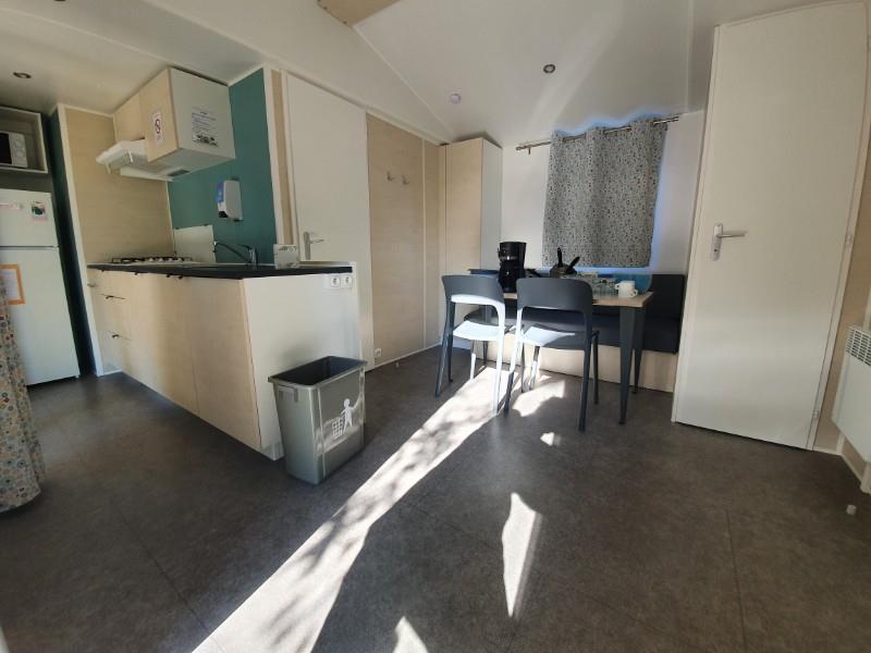 Location - Mobil Home Jacinthe Confort+ 30M² - 2 Chambres + Terrasse Couverte - Camping Le Fort Espagnol