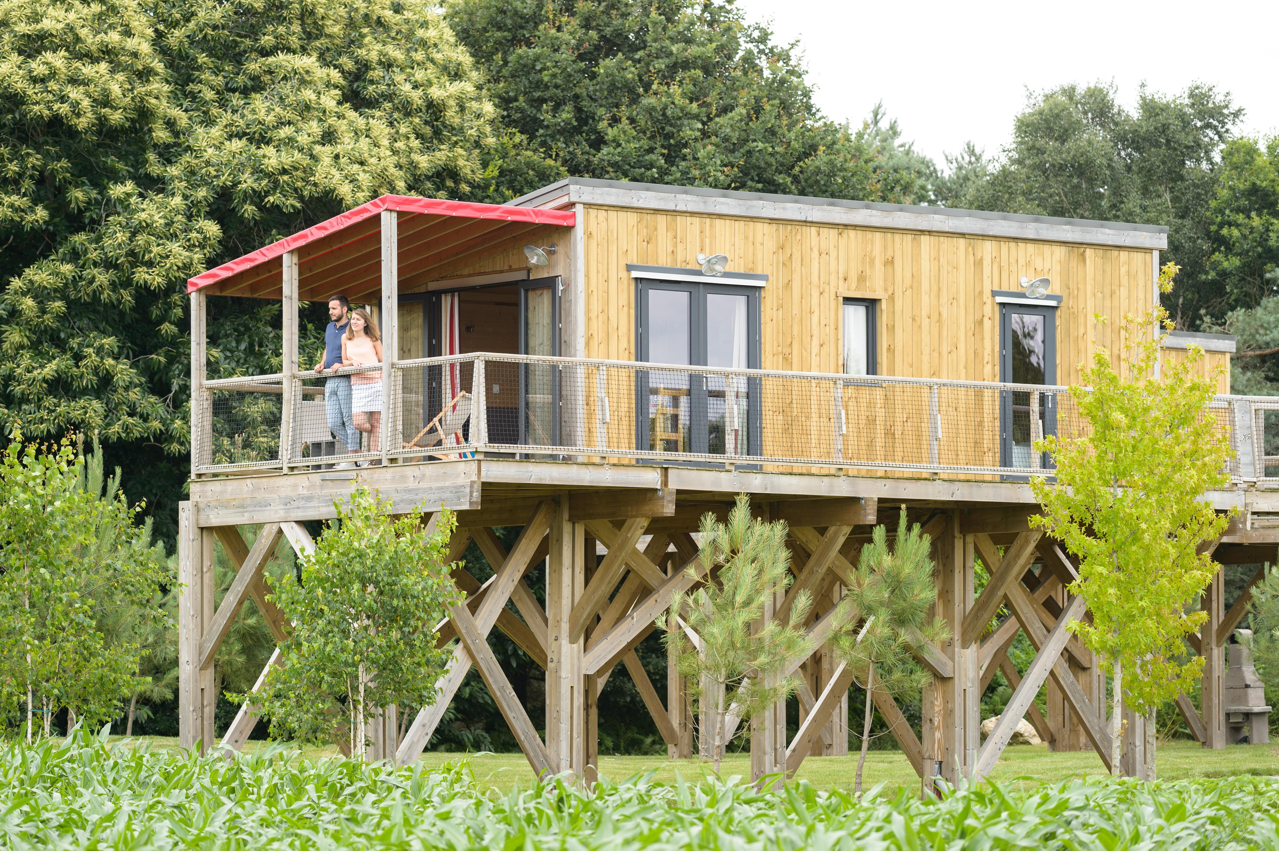 Cottage sur pilotis PREMIUM (2 chambres) + terrasse couverte