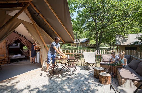Location - Tente Trappeur Ii - Village Huttopia Dieulefit