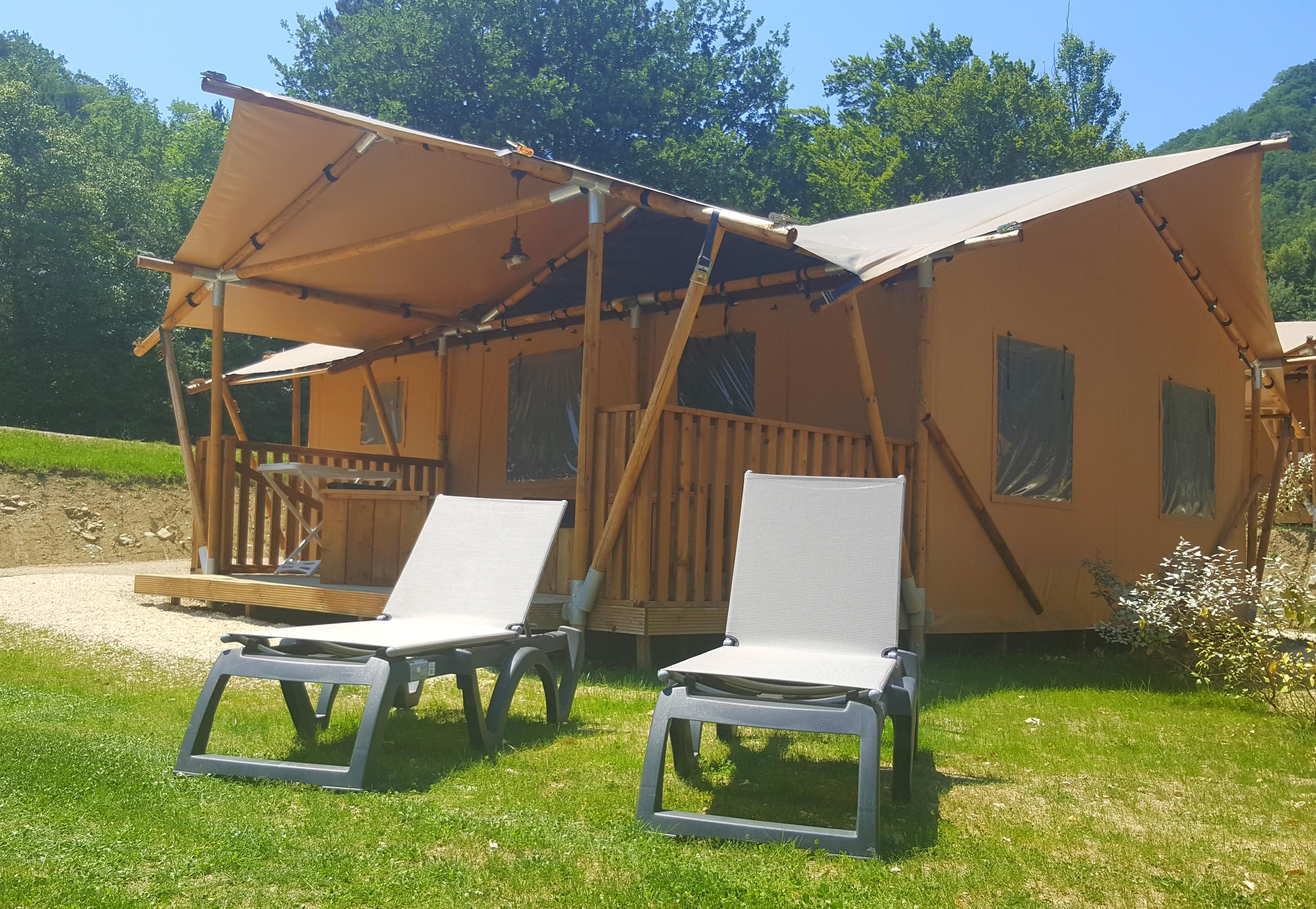 Accommodation - Tent Glamping 2 Bedrooms**** (Air Conditioning) - YELLOH! VILLAGE - LES BOIS DU CHATELAS