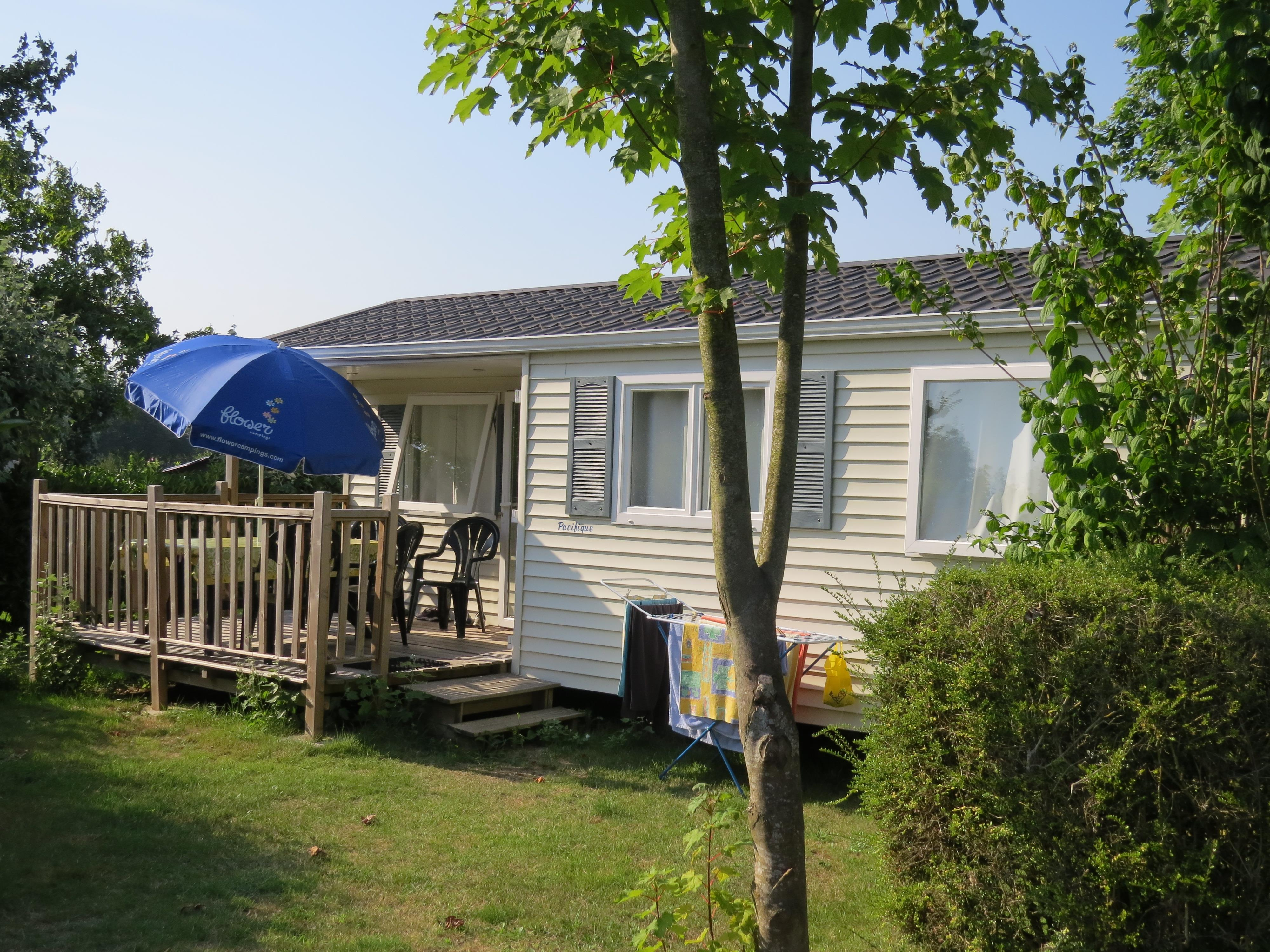 Mobil-Home CONFORT 25m² - 2 chambres + Terrasse semi-couverte