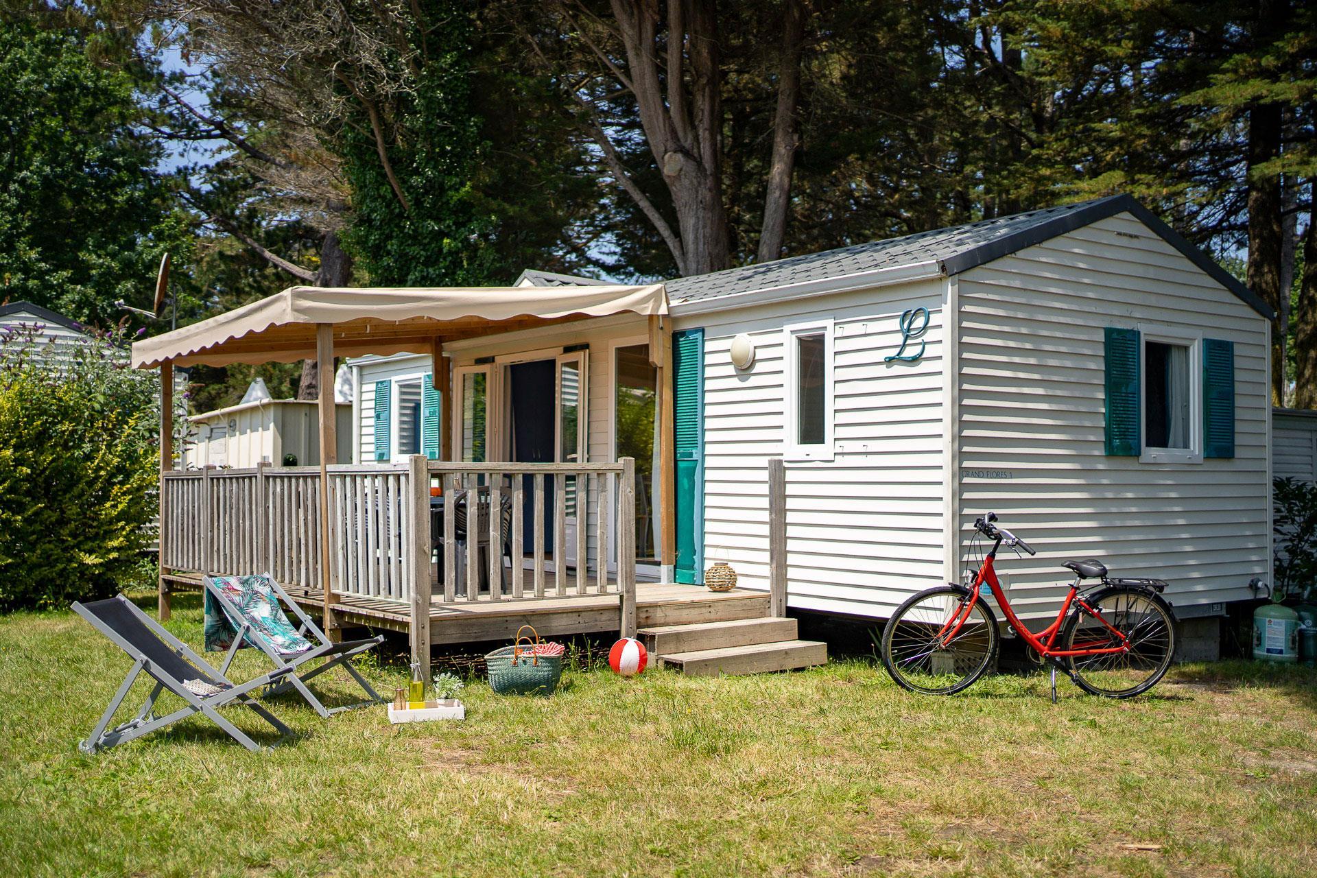 Location - Cottage 3 Chambres ** - Camping Sandaya Le Moulin de l'Eclis
