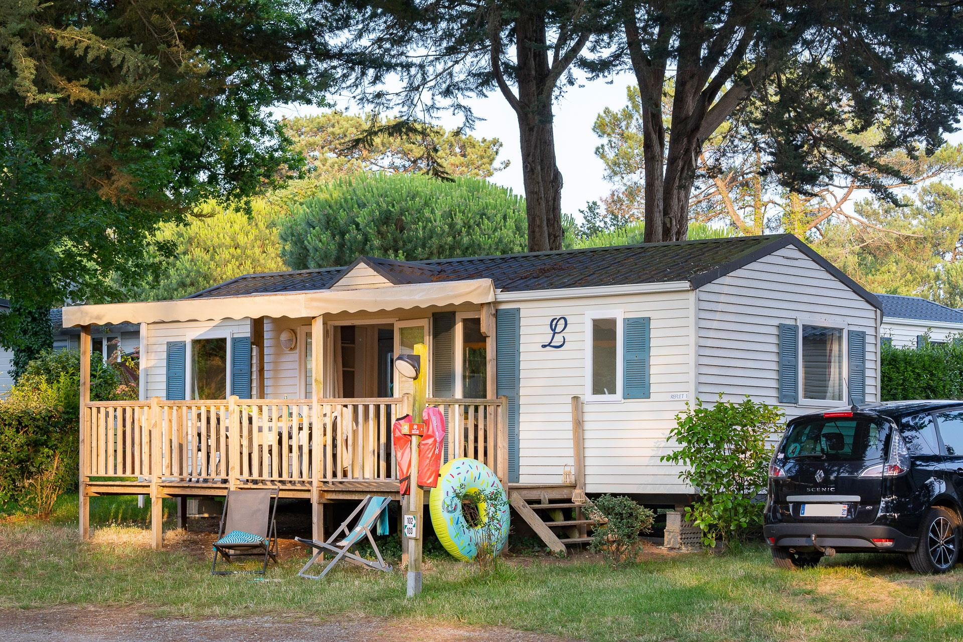 Location - Cottage 3 Chambres *** - Camping Sandaya Le Moulin de l'Eclis