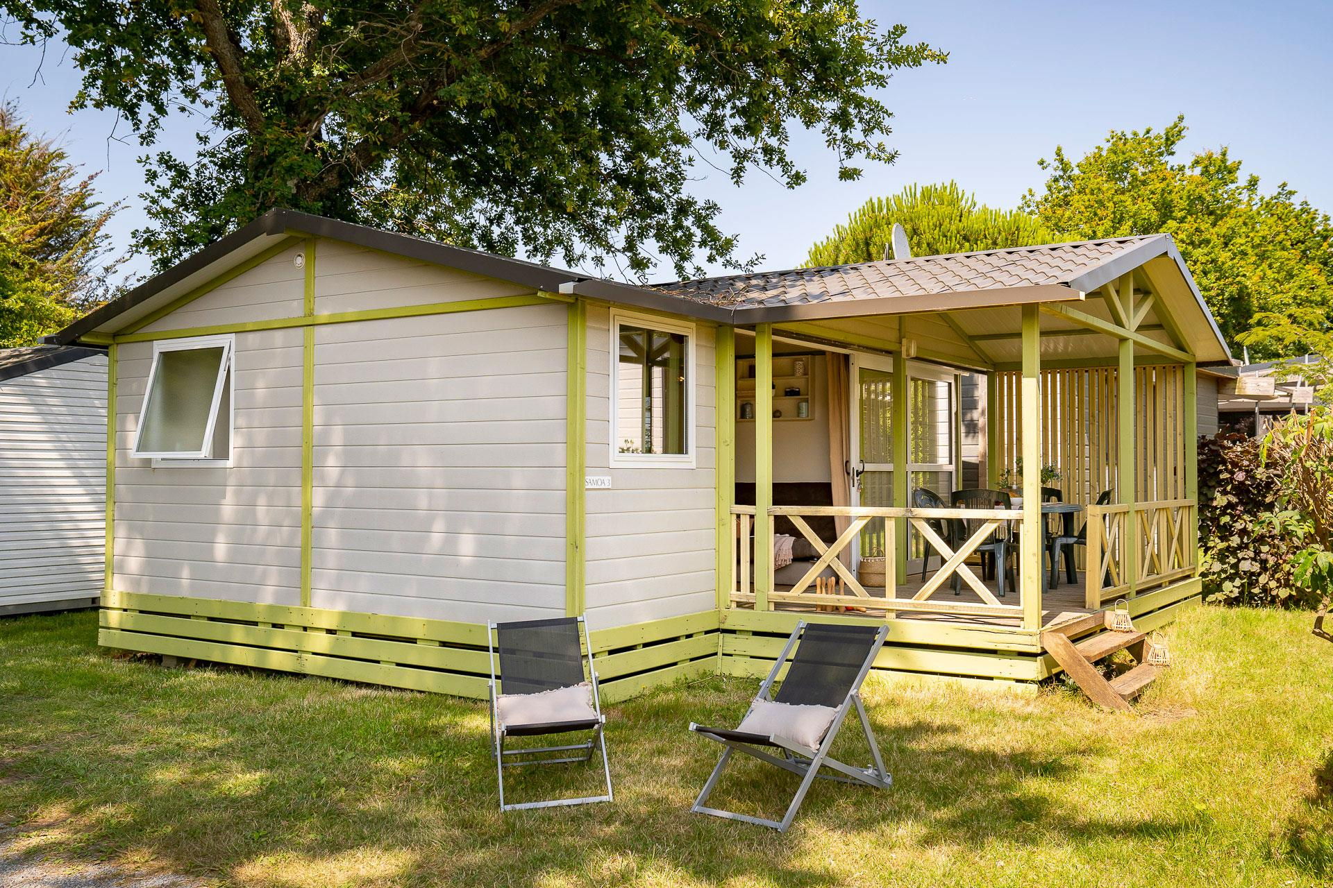 Location - Chalet 3 Chambres *** - Camping Sandaya Le Moulin de l'Eclis