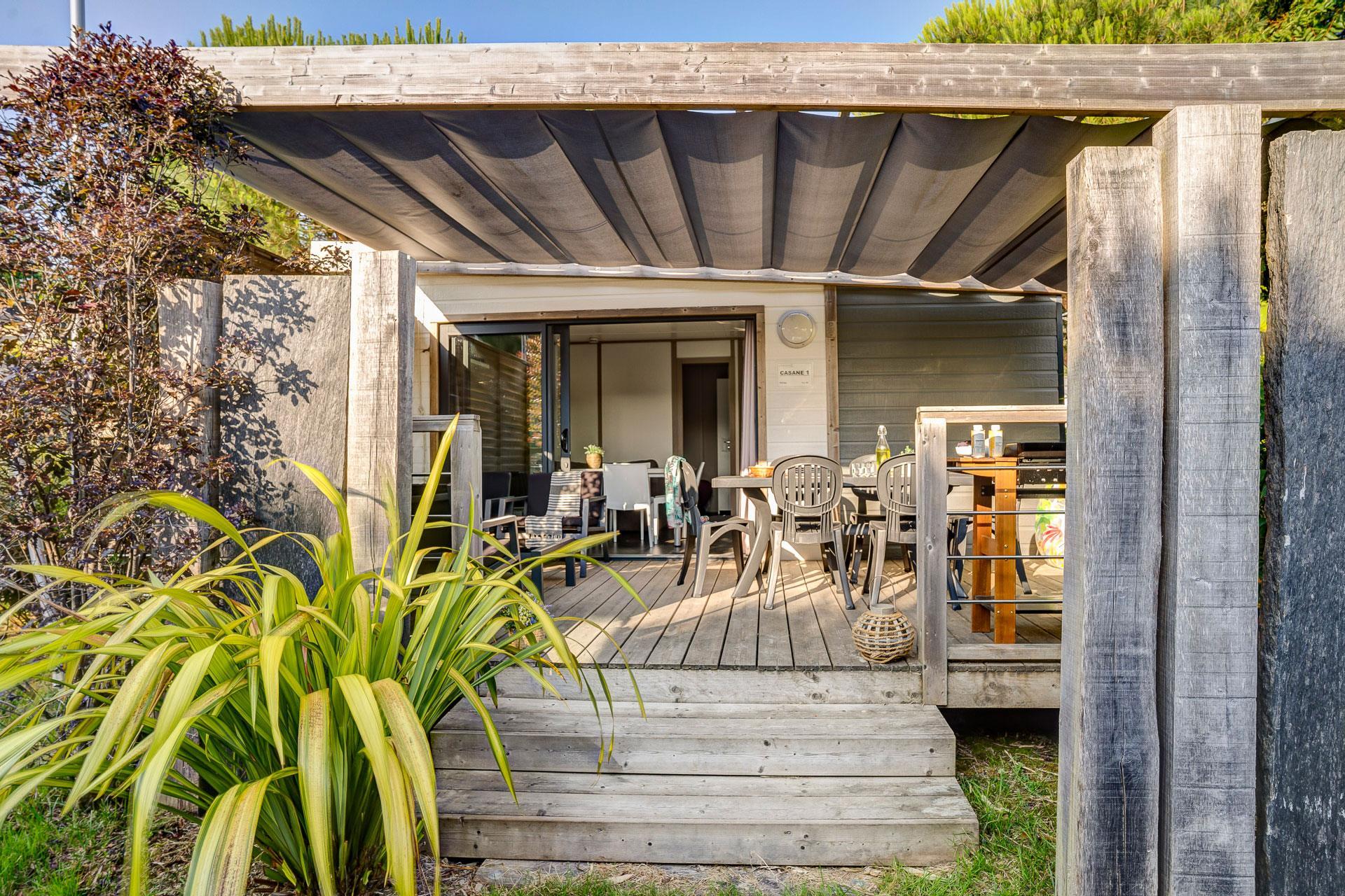 Location - Chalet Casane 2 Chambres Premium - Camping Sandaya Le Moulin de l'Eclis
