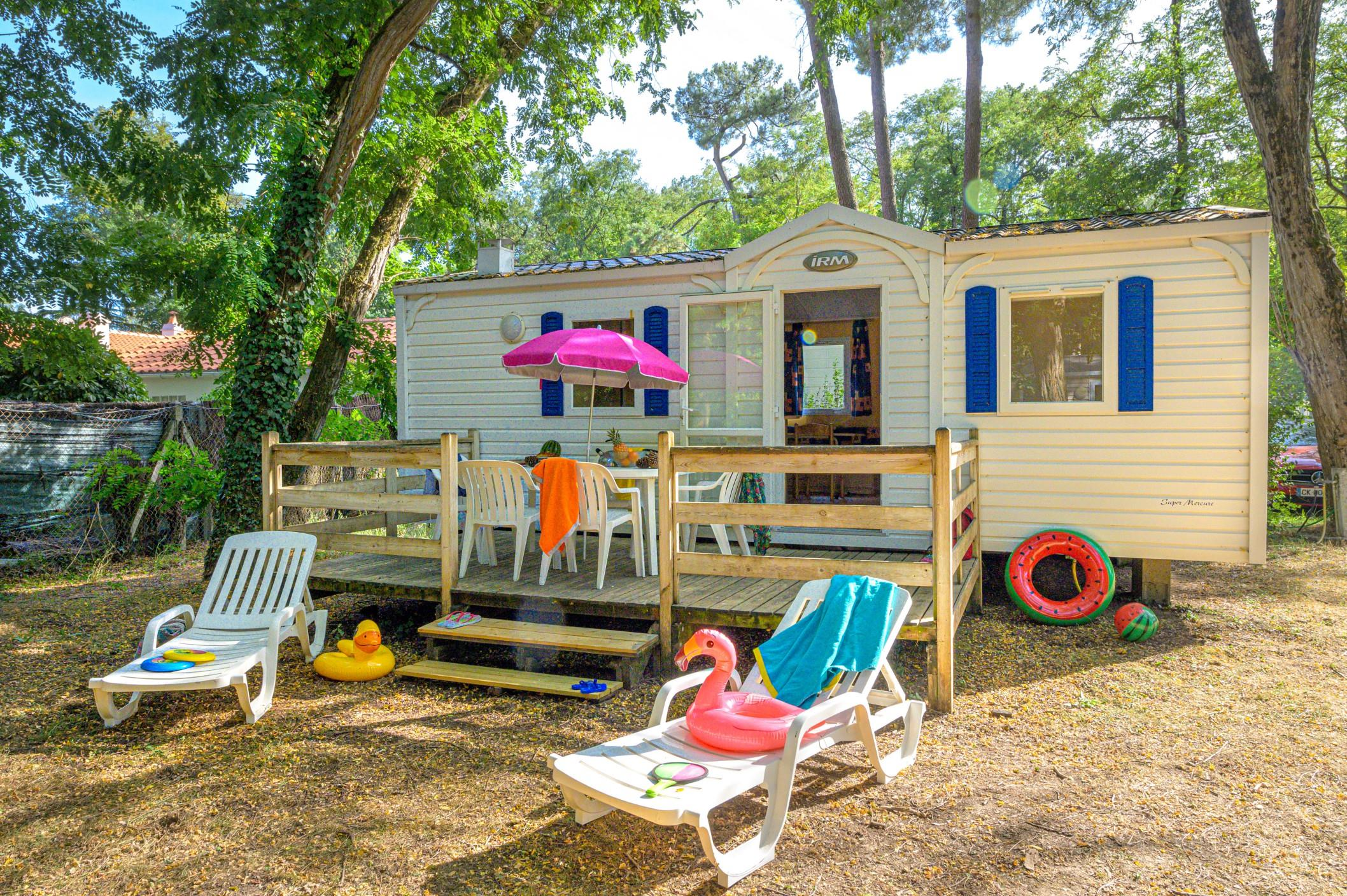 Accommodation - Mobile-Home Classique 2 Bedrooms - Flower Camping Les Biches