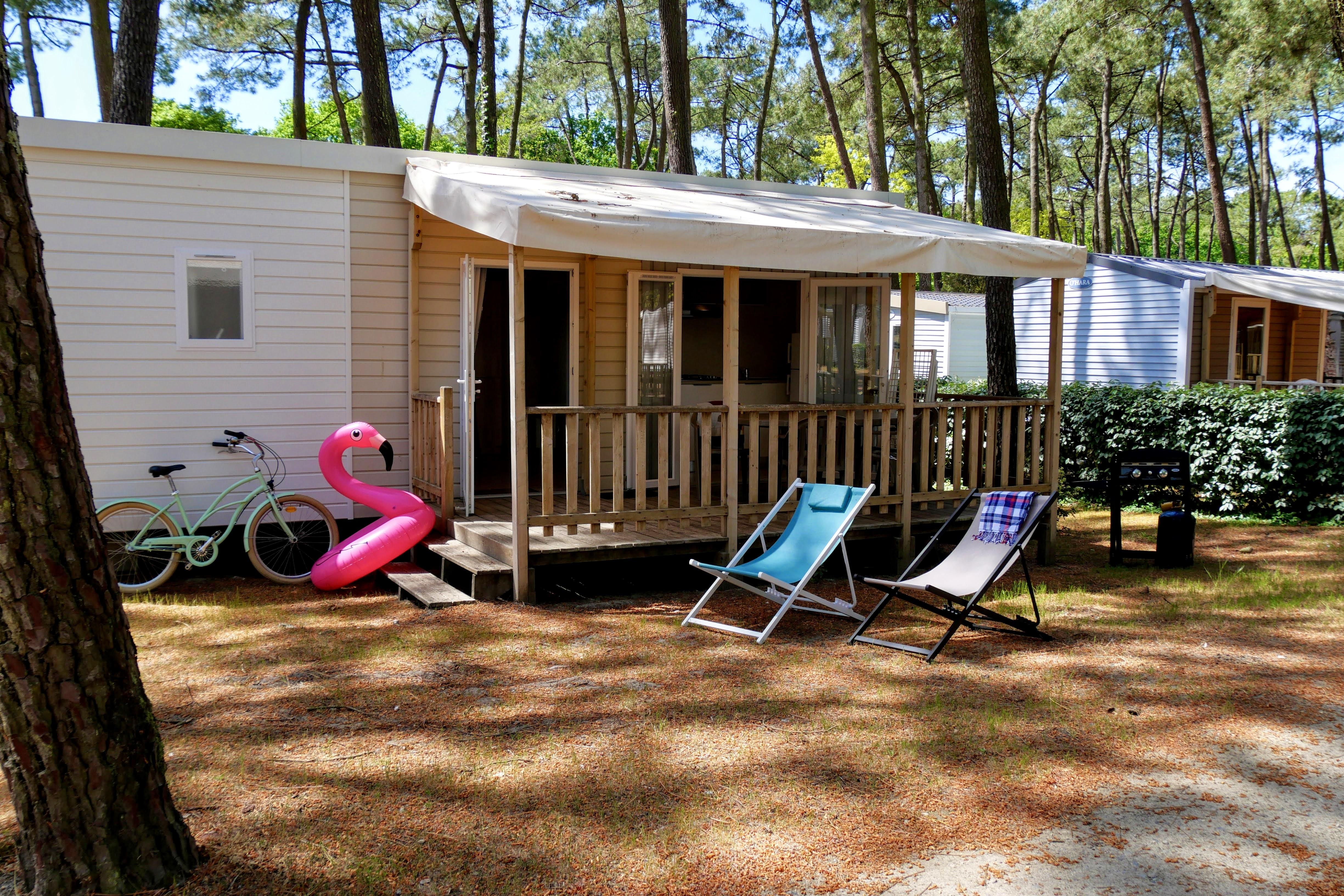 Mobil-home Confort TV 2ch | CONFORT - 26m² - terrasse couverte - TV - plancha