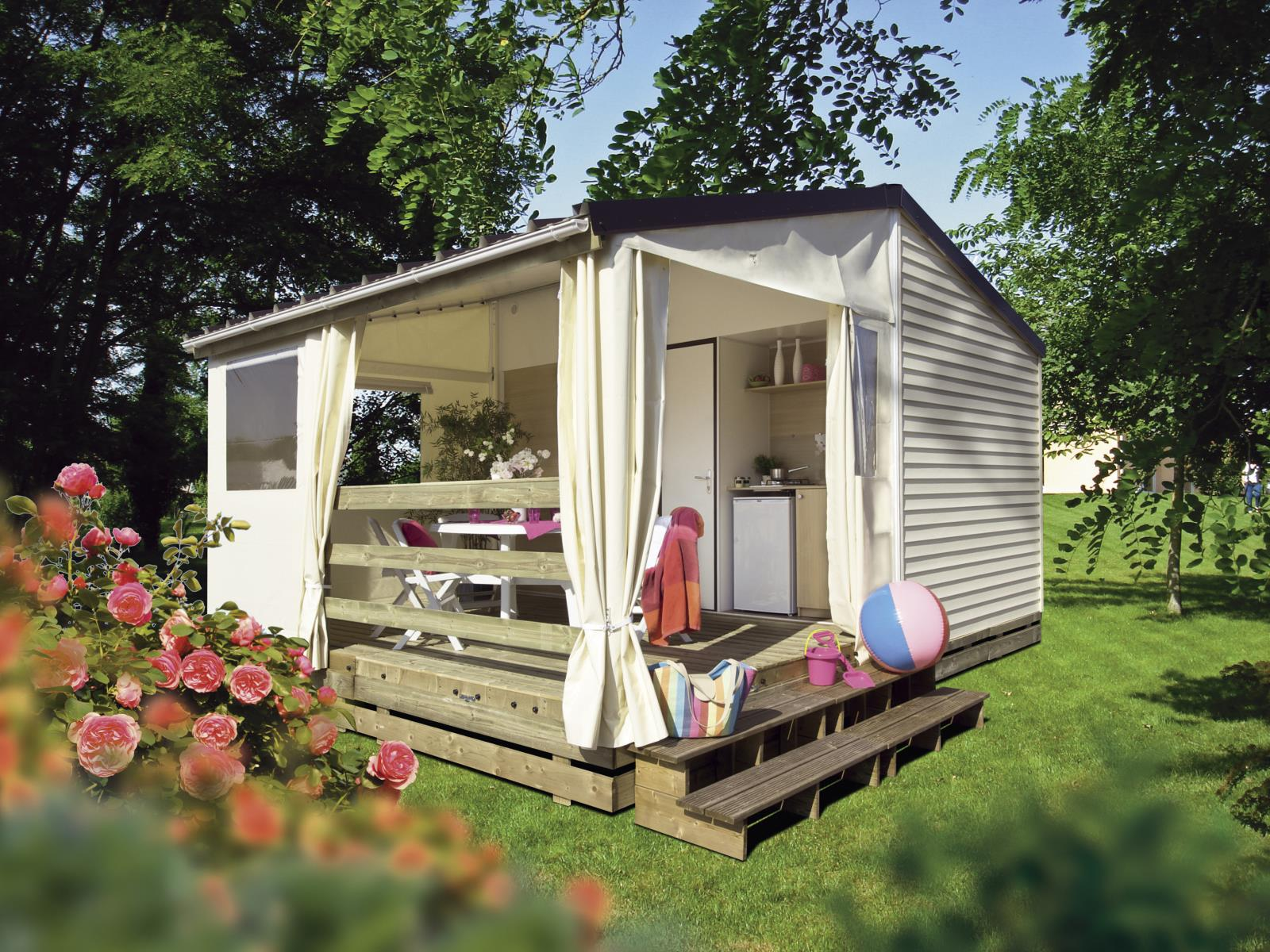 Location - Bungalow 2 Chambres - 21M² * - Camping L'Arbre d'Or