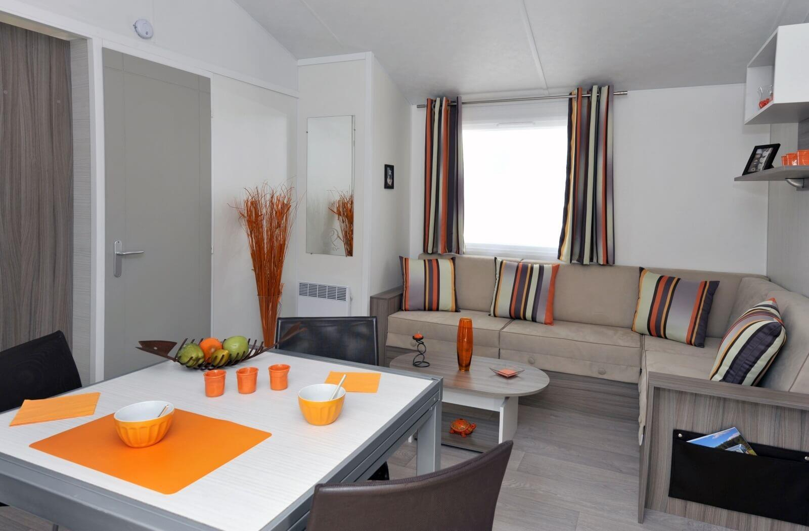 Location - Mobil-Home Vip 2 Chambres > 28 M² - Camping Les Mizottes
