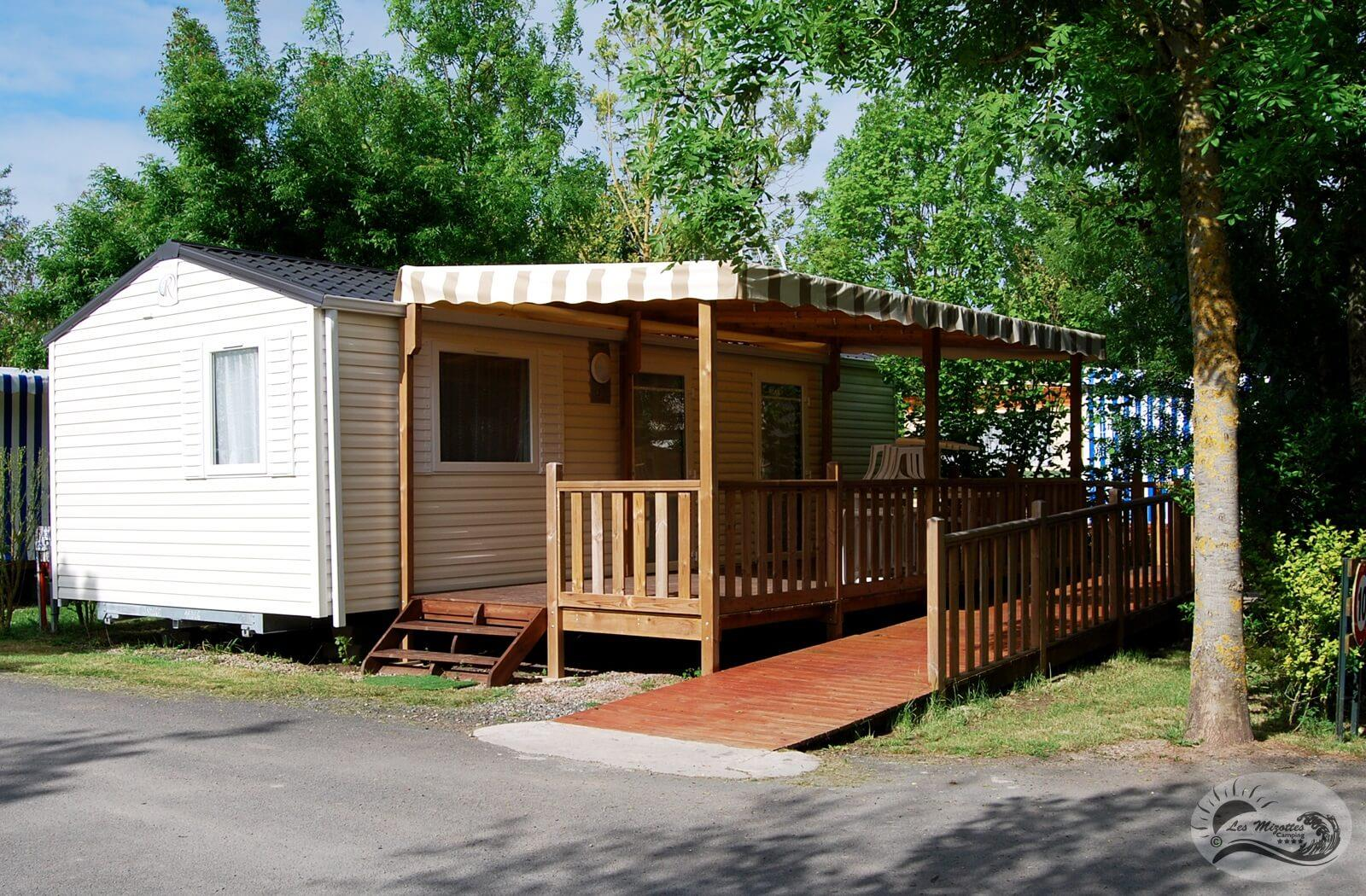 Location - Mobil-Home Pmr 2 Chambres 32 M² - Camping Les Mizottes