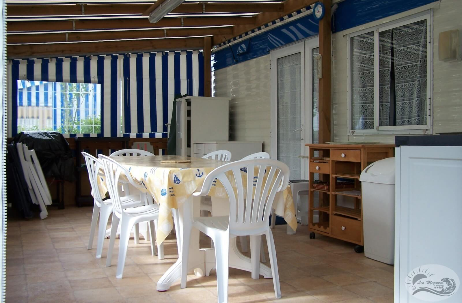 Location - Mobil-Home Eco 2 Chambres <25 M² - Camping Les Mizottes
