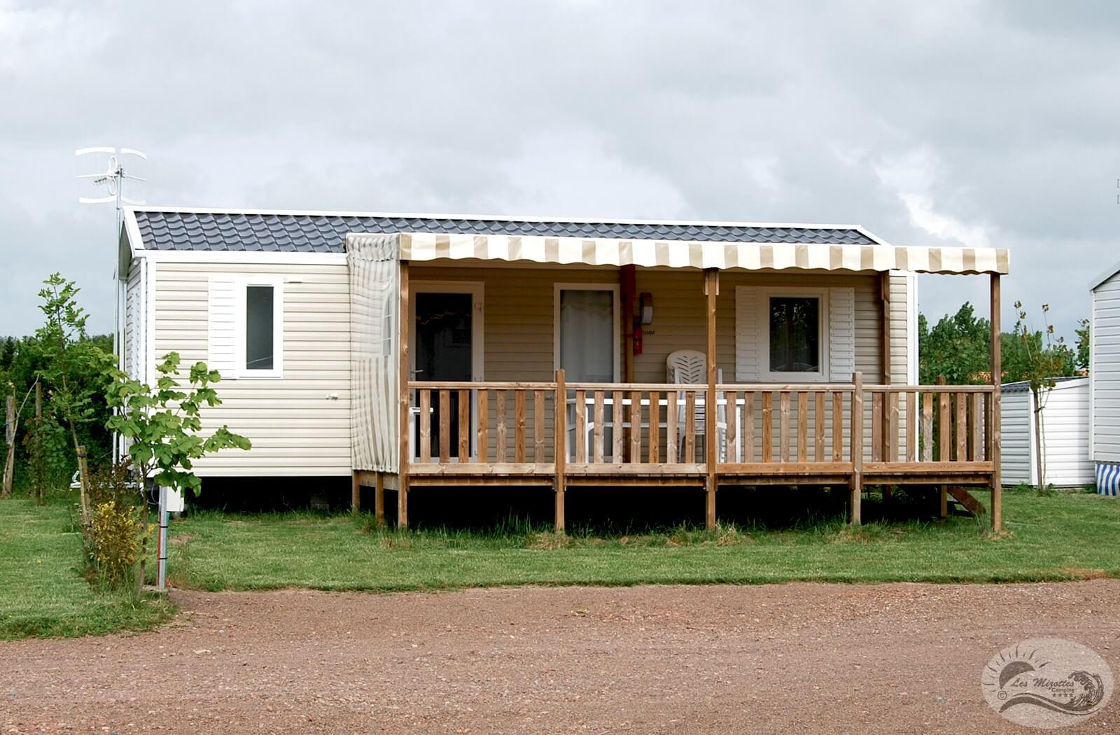 Location - Mobil-Home Vip 3 Chambres > 32 M² - Camping Les Mizottes