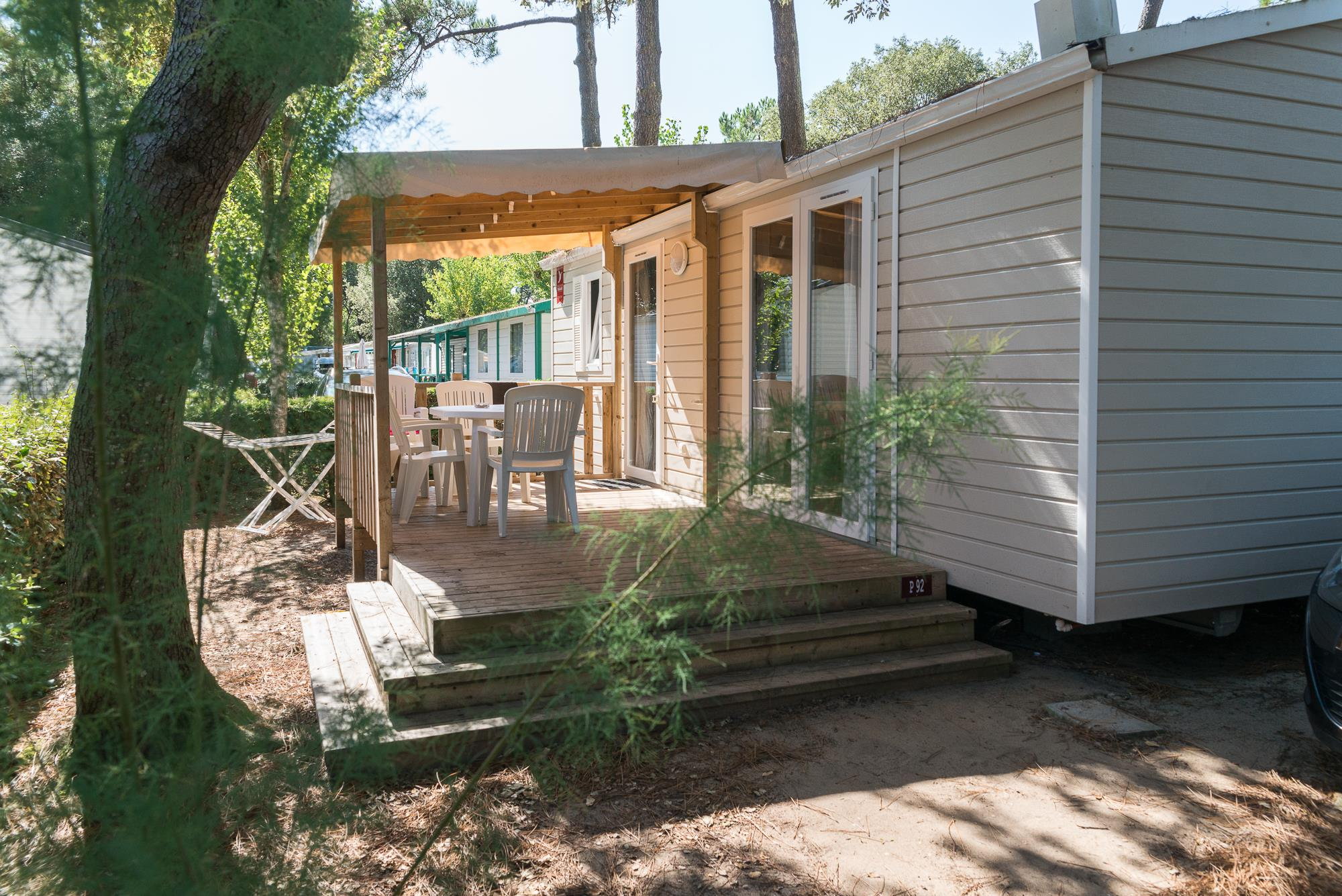 Mobile-Home Albizia 2 Bedrooms + Half-Covered Terrace