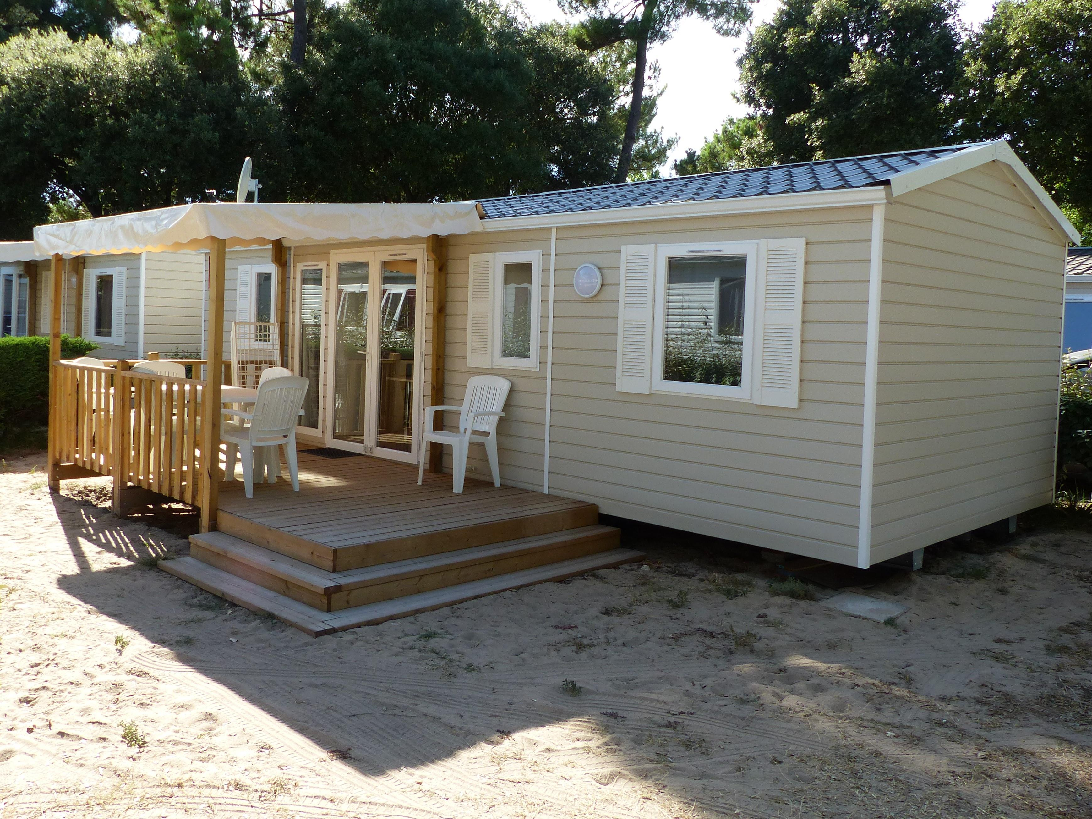 Mobile-Home Palmier 3 Bedrooms + Half-Covered Terrace