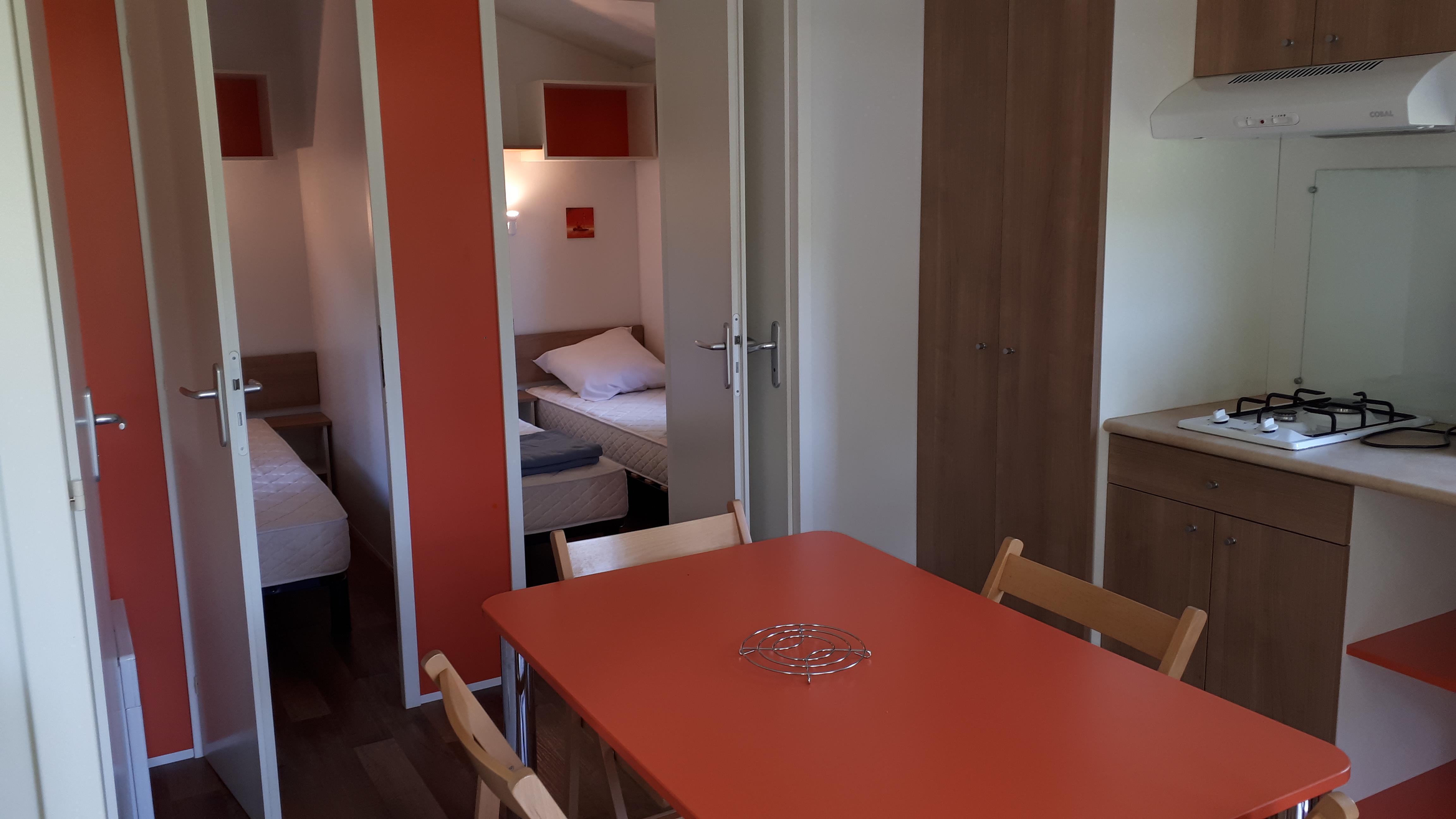 Location - Mobil-Home Ridonev'panama  26 M² - Camping De Bergougne