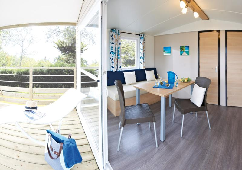 Mobil home 18m² 1 chambre / Terrasse couverte / TV