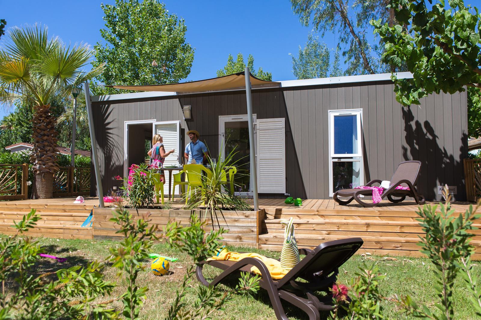 Location - Hacienda, Prestige ! Wifi & Clim & Tv & Plancha & Lave-Vaisselle - Samedi - 2 Chambres - Camping L'Air Marin