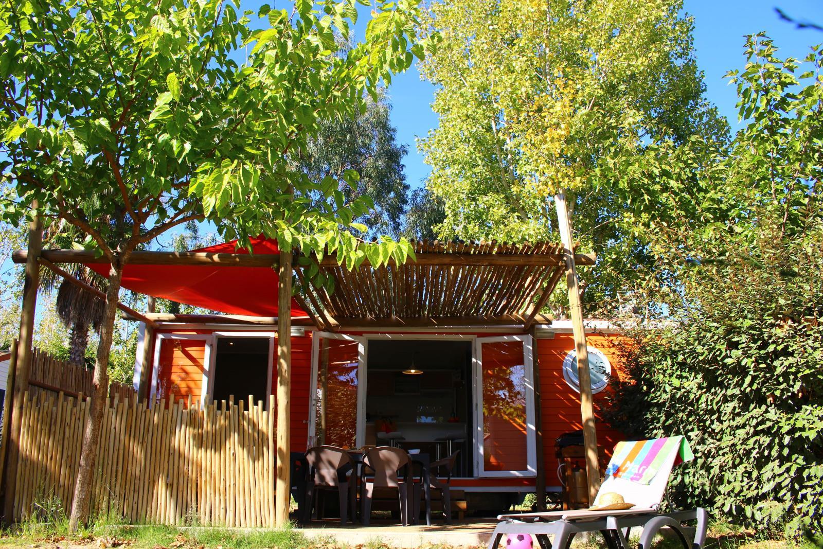 Location - Mexico Plus, Premium- Samedi - Clim & Tv & Plancha - 2 Chambres - Camping L'Air Marin