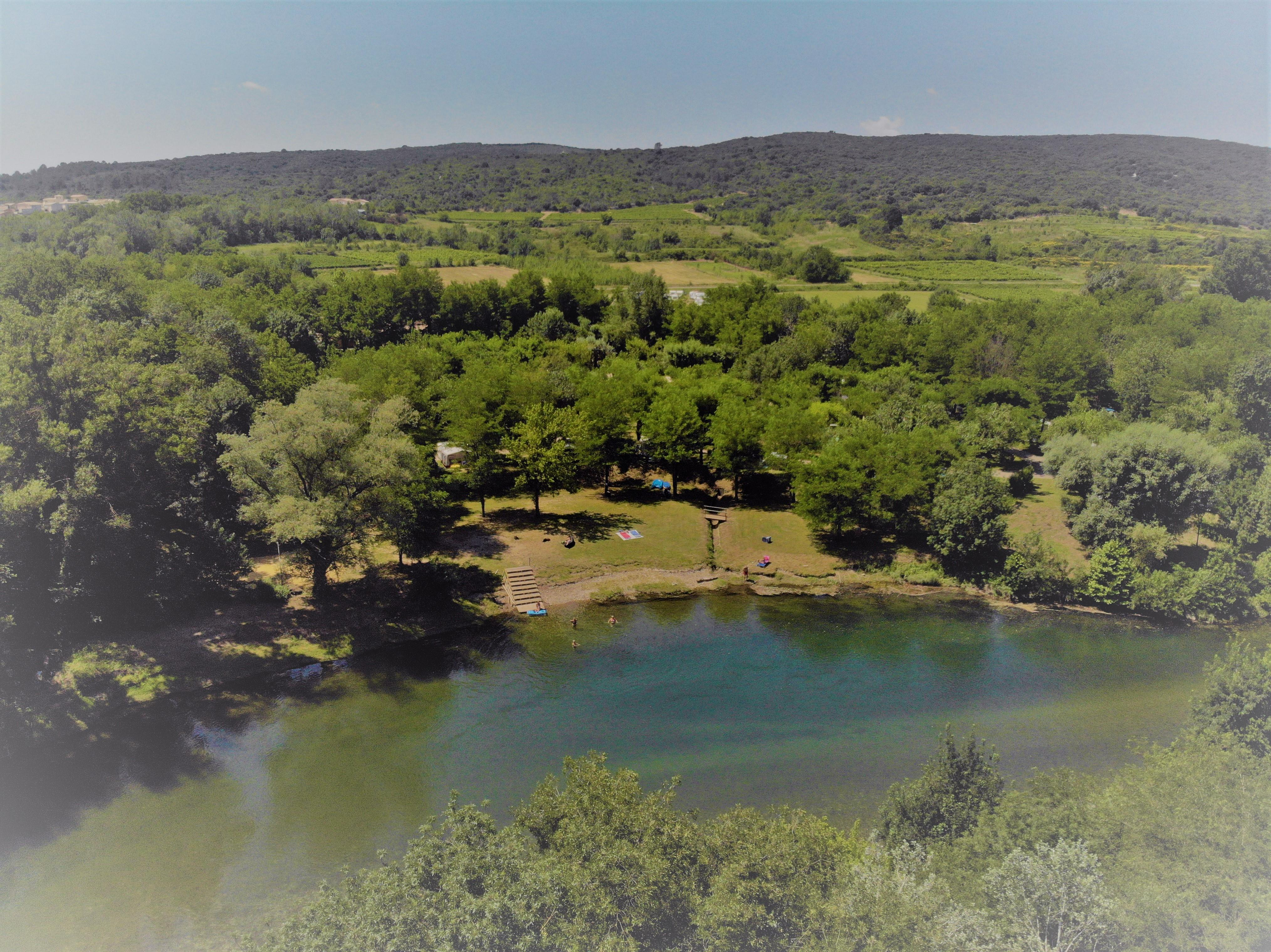 Camping le Saint Michelet, Goudargues, Gard