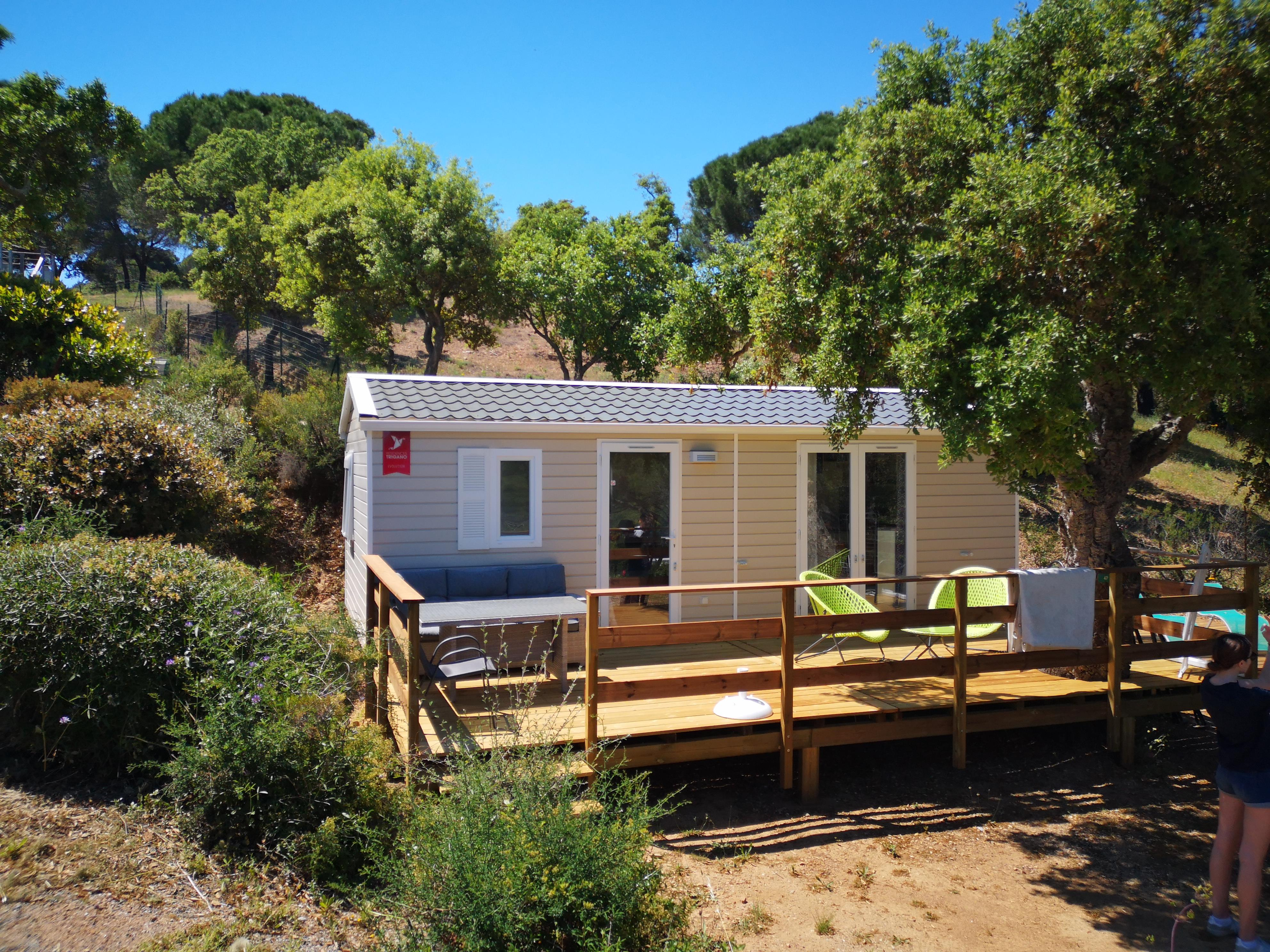 Location - Mobilhome Vip Confort Evo 29M² Avec Jacuzzi - Camping Les Lauriers Roses