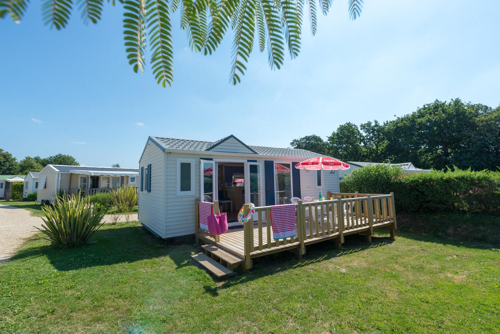 Location - Mobil Home Cosy 2 Chambres - Camping de Kersentic