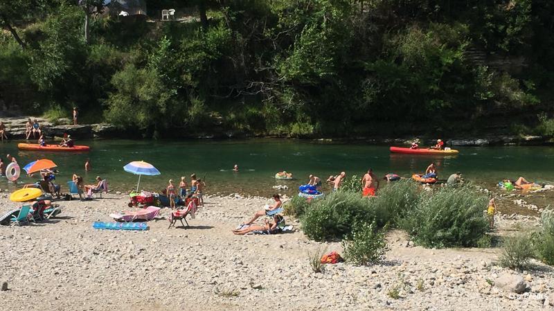 Camping les Prades, Mostuéjouls, Aveyron