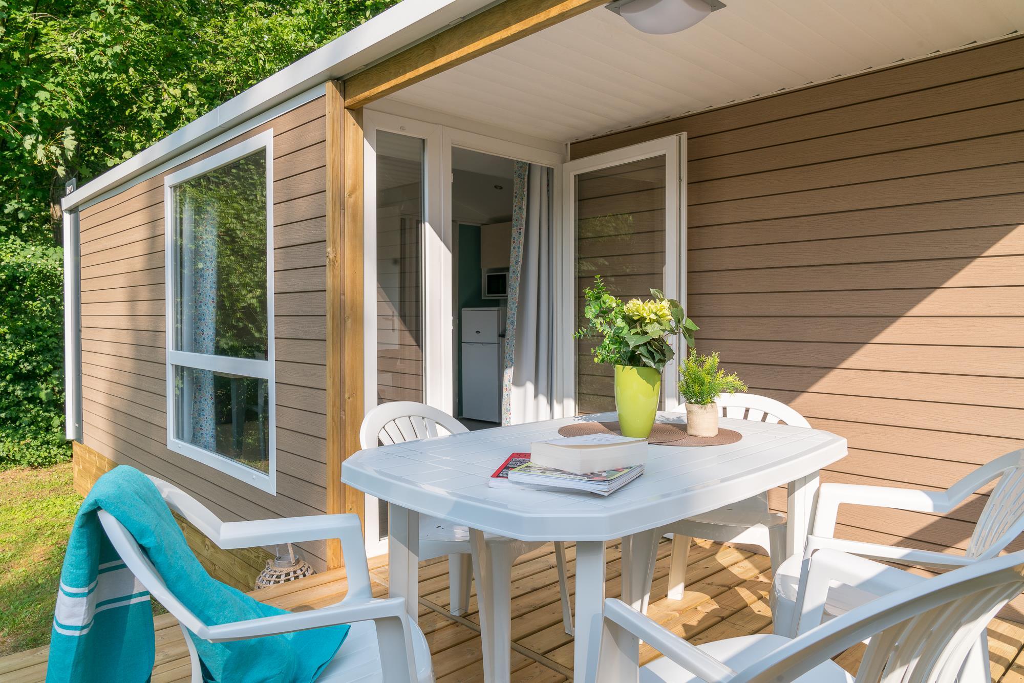 Location - Cottage Loggia ***  2 Chambres - Camping Le Grand Paris