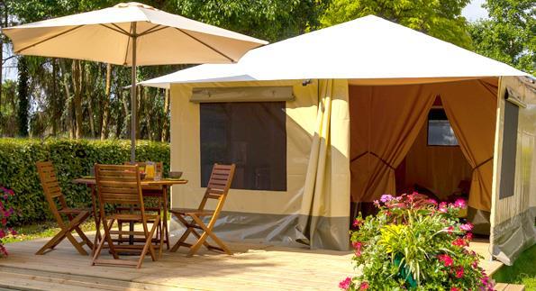 Zeltbungalow 20m² 2 schlafzimmer (ohne Sanitäranlagen)