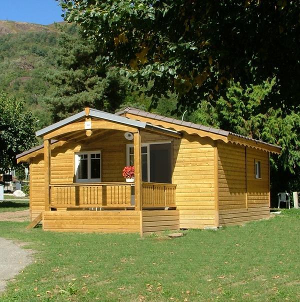 Location - Chalet Bois 35M² (2 Chambres) - Camping Le Malazéou