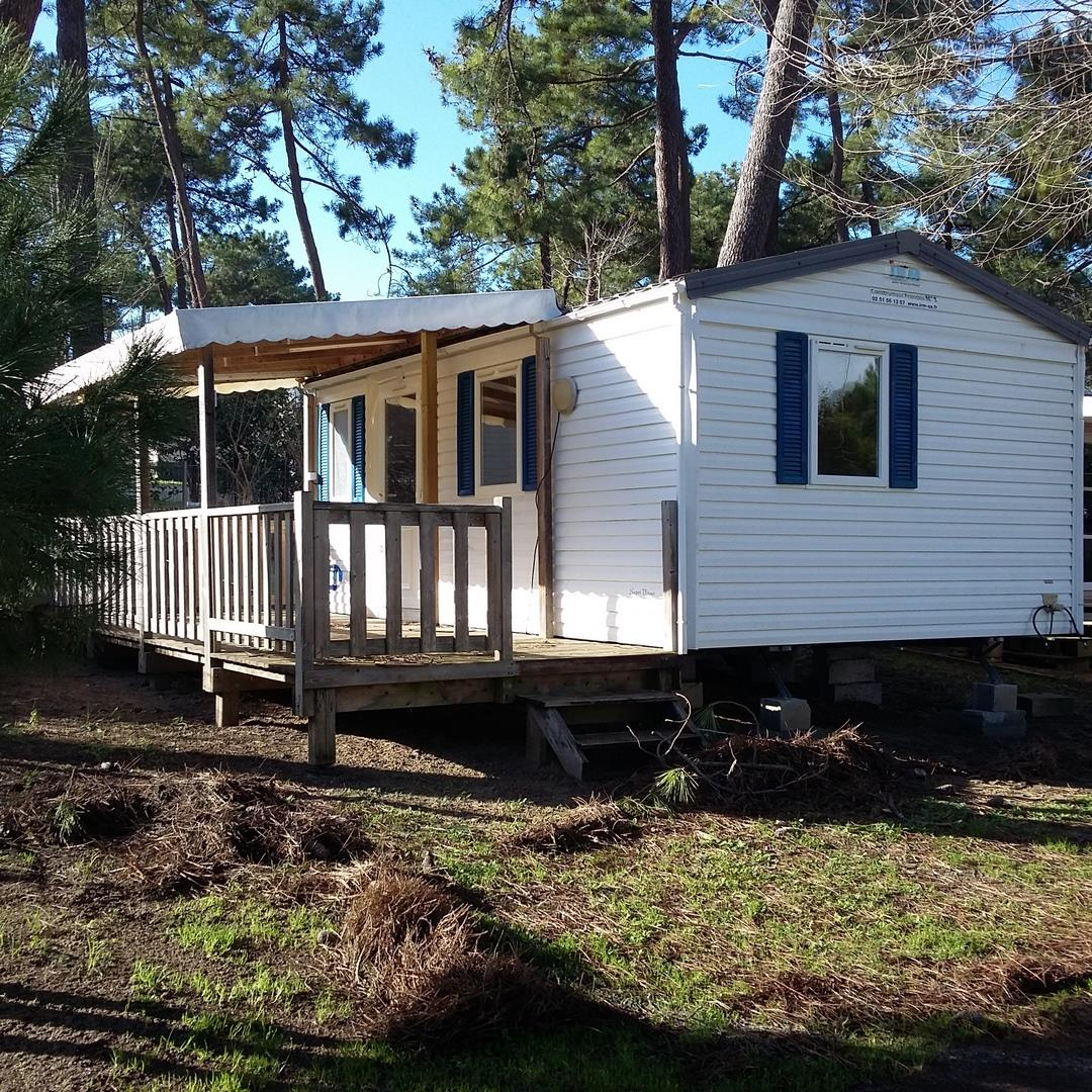 Location - Mobil Home Bouquet 2 Chambres - Camping-Club Les Pins
