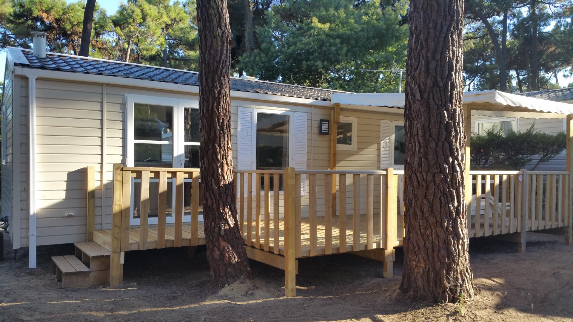 Location - Mobil-Home Hippocampe 3 Chambres - Camping-Club Les Pins