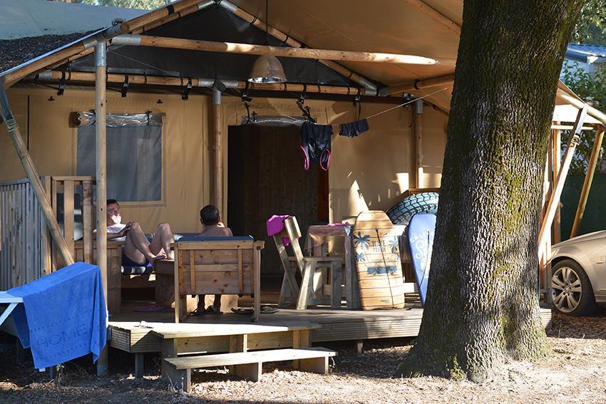 Location - Safari Lodge 6 / 2017 / Plain Pied, Sans Étage - Camping-Club Les Pins