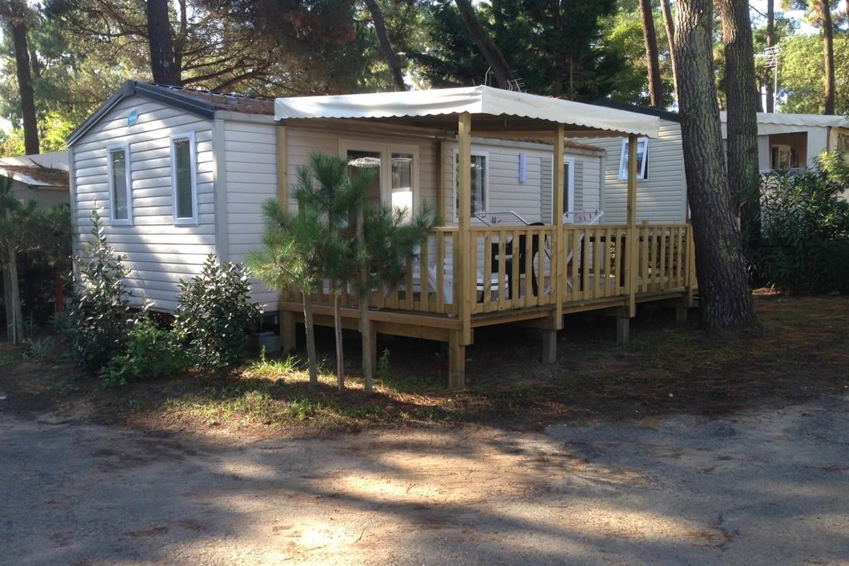 Location - Mobil Home Tourteau 2 Chambres - Camping-Club Les Pins