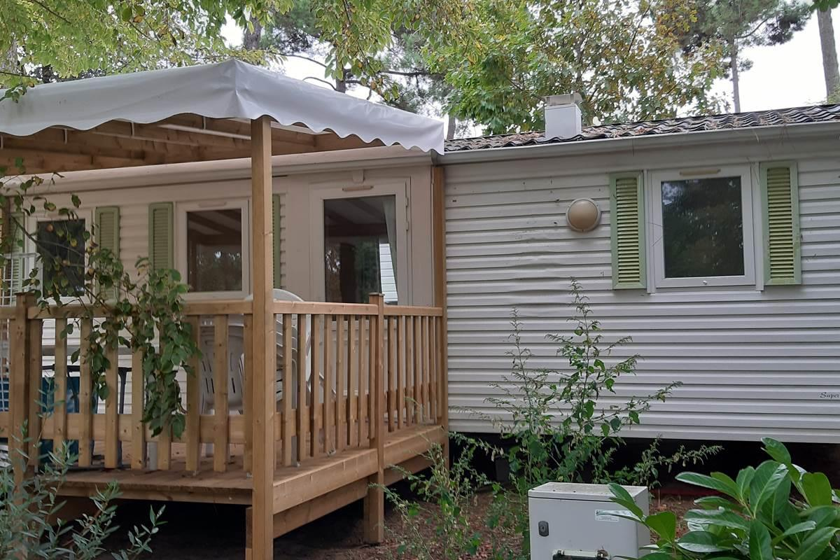 Location - Mobil-Home Dorade 3 Chambres - Camping-Club Les Pins