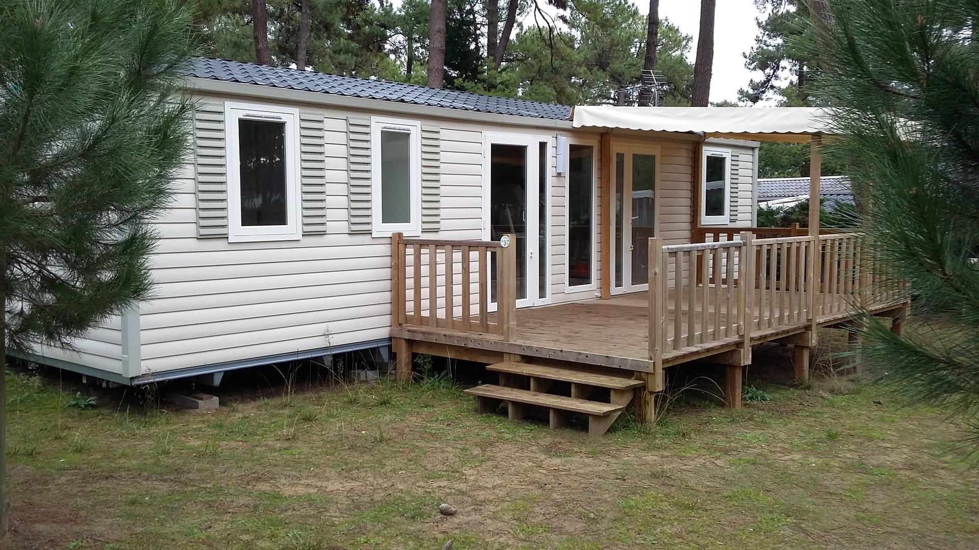 Location - Mobil Home Oursin 3 Chambres - Camping-Club Les Pins